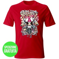 tshirt-bone-to-ride-rosso-fronte